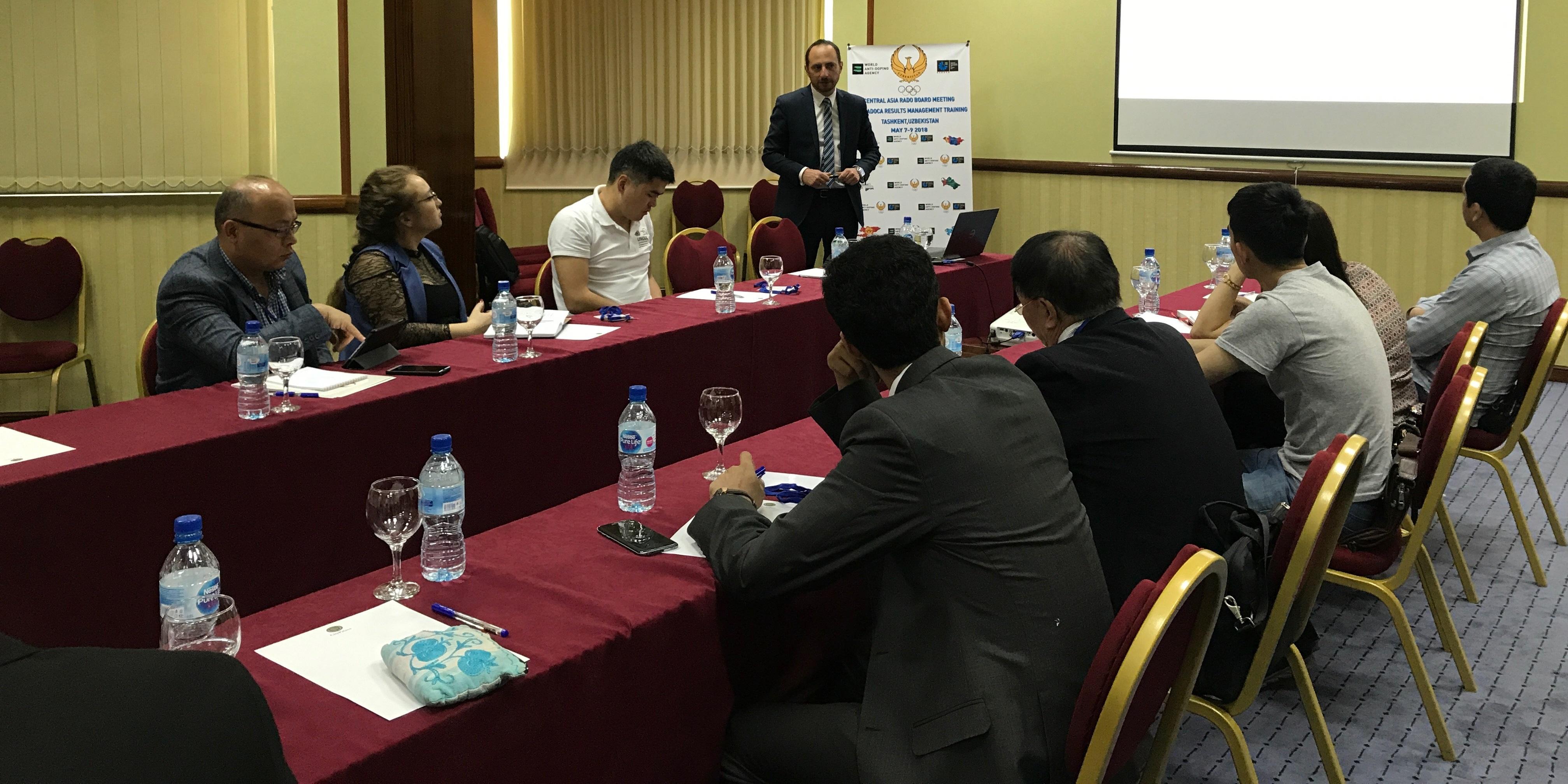 Szkolenie WADA i POLADA dotyczące zarządzania wynikami dla Central Asia RADO